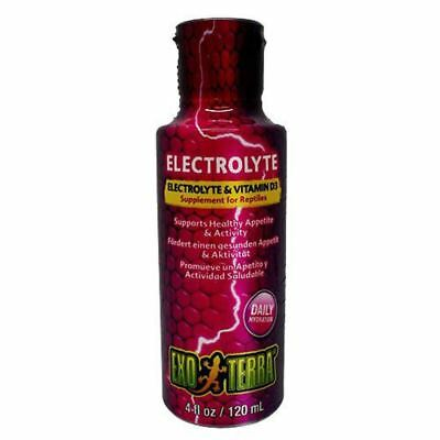 Exo Terra Electrolyte and Vitamin D3 Supplement for Reptiles 120ml