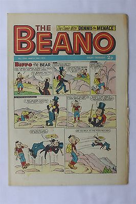 The Beano 1548 March 18th 1972 Vintage UK Comic Dennis The Menace Biffo The Bear