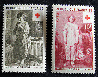 Timbre FRANCE / FRENCH Stamp - Yvert & Tellier n°1089 et 1090 n** (Cyn21)
