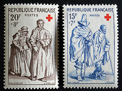 Timbre FRANCE / FRENCH Stamp - Yvert & Tellier n°1140 et 1141 n** (Cyn21)