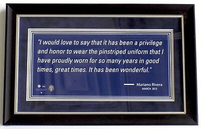 Mariano Rivera New York Yankees Framed Mini Quote 9x16