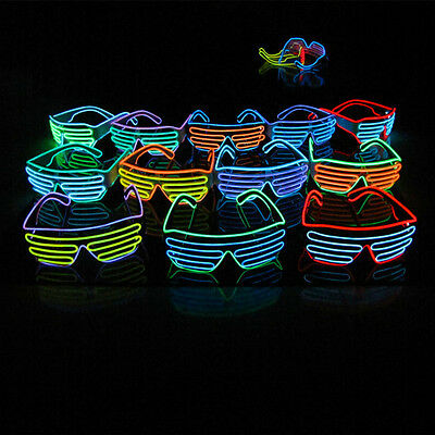 Shutter Shades Sound Activated Led Flashing Clubbing Glasses Colorful Glory
