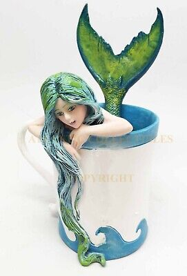 Amy Brown Art Collectible Sweet Addictions Mermaid in Tea Cup Magic Figurine