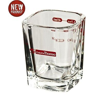Tiamo 2oz Lined Espresso / Ristretto Shot Glass - Espresso Coffee Machines
