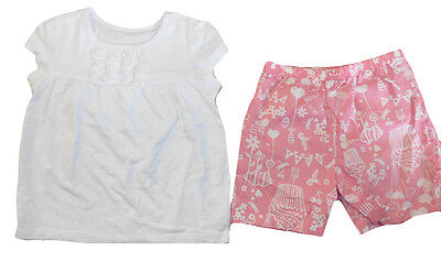 Pretty Girls Set Outfits Top Shorts All Sizes 4-11 yrs NEW Polo Top BLACK FRIDA