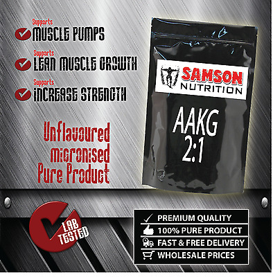 AAKG PURE ARGININE 500g L-ARGININE PREMIUM QUALITY BEST VALUE SAMSON NUTRITION