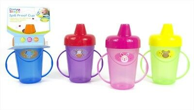 First Steps Jungle Pals Spill Proof Cup Beaker 236ml BPA free Handles 3 months +