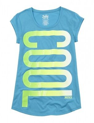 NWT Justice Girls Aqua Cool Lime Fade  Top Tee U Pick Size NEW