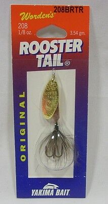 Wordens Yakima Bait 1/8 oz Brown Trout Rooster Tail Spinner Fishing Lure