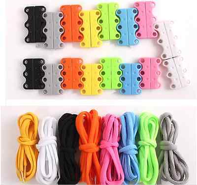 Lazy Magnetic Casual Sneaker Shoe Buckles Closure No Tie Lacing Fasteners System