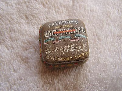 Antique Freemen's Medicated Face Powder Tin