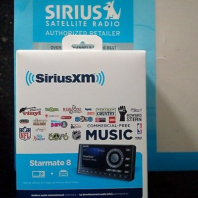 Sirius Starmate 8 Dock & Play Radio with Car Vehicle Kit New ST8 Sealed!