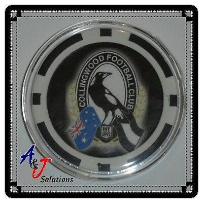 Collingwood Magpies AFL Poker Chip Card Guard Protector