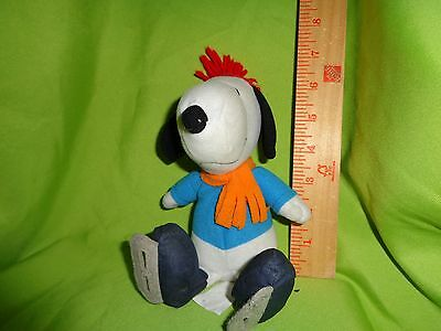 PEANUTS SNOOPY WITH ICE SKATES AND HAT plush stuffed animal toy doll