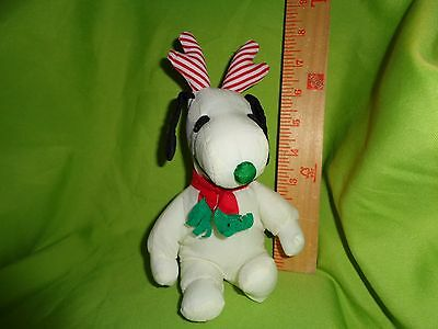 PEANUTS CHRISTMAS SNOOPY WITH ANTLERS plush stuffed animal toy doll