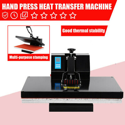 "1600W Digital Clamshell Heat Press Transfer T-Shirt Sublimation Machine 16""x24"""