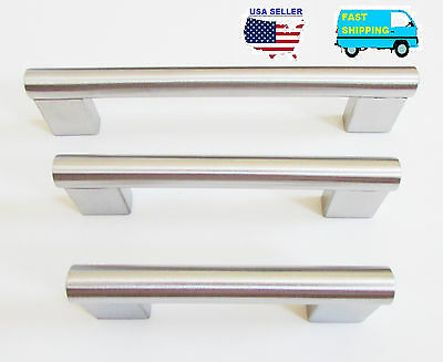Stainless Steel Pull Kitchen Cabinet Hardware Handle Cupboard Drawer Knob 6008