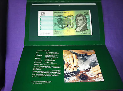 1988 The First $2 Note Johnson And Fraser In Folder