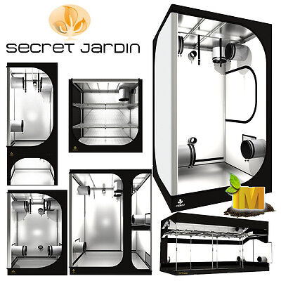 Secret Jardin Hydroponics Grow Light Tent Room Hydroponic Cloning Grow Bloom Kit