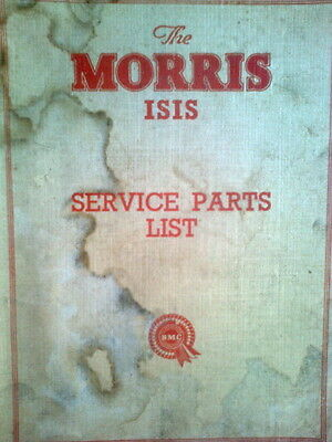 Morris Isis Series II Service Parts List Manual 1956