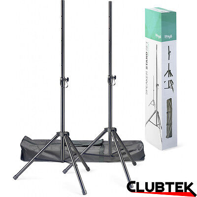 Stagg Speaker Tripod Stands (Pair) and Carry Bag SPSQ10 DJ Disco PA Stand UK