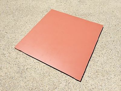 "NEW 1/4"" Commercial High Temp Silicone Rubber Sheet 8"" x 8"" - 40 Duro +/- 5"