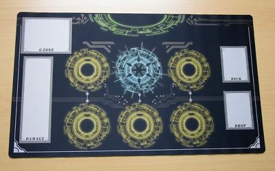 M773 Free Mat Bag Custom Made Cardfight Vanguard Playmat Light Blue Circle