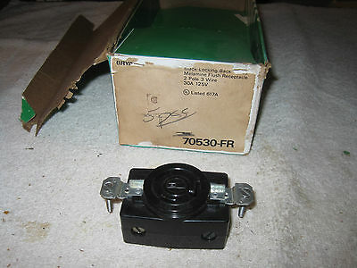 BRYANT  70530-FR Locking flush receptacle 2p 3w 30a 125v grounding