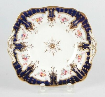 Antique Hand-Painted Small Porcelain Tray In The Style Of Coalport