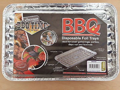 Disposable BBQ Grill Foil Trays Cook Heat Aluminium Oven Safe 2 4 10 20 Trays