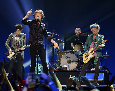 Mick Jagger & Rolling Stones Rock Group Band In Concert 8X10 Music Photo Picture