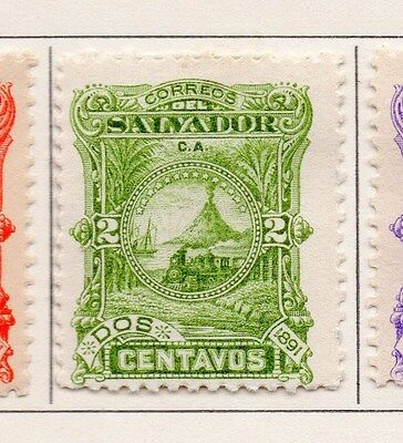 Salvador 1891 Early Issue Fine Mint Hinged 2c. 153837
