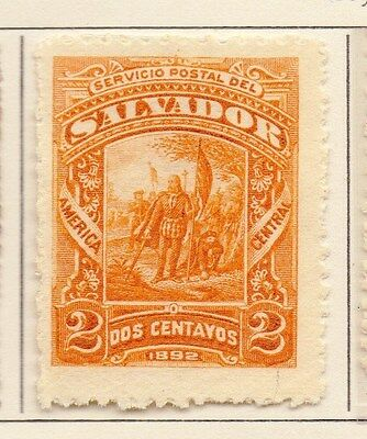 Salvador 1892 Early Issue Fine Mint Hinged 2c. 153848