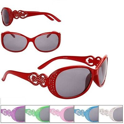 Rhinestone Sunglasses Shades Kids Childrens Girls 100% UV400 Protection   68