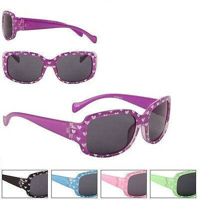 Heart Sunglasses Shades Kids Childrens Toddlers Girls 100% UV400 Protection 65