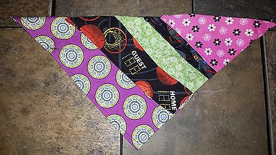 Customized, Hand-crafted Dog Bandana Several Colors and Patterns Available