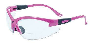 Pink Cougar Bi-Focal Safety Glasses - ANSI Z87.1 - New