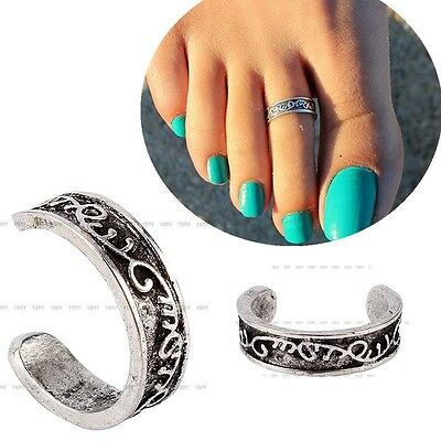 Women Fashion Retro Simple Toe Ring Adjustable Foot Beach Jewelry Celebrity New
