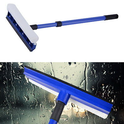 Handle Adjust Double Sided Windshield Window Glass Wash Cleaner Brush FE
