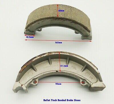"""Motorcycle Royal Enfield Bullet Spare Part Front Brake Shoe Pair Pads 7"""" #143971"""