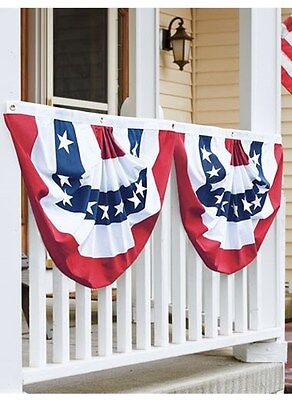 a00d22b89d18 PATRIOTIC USA AMERICAN BUNTING SET OF 2 - SWAG FLAG 36