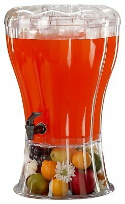 Buddeez Unbreakable 3-1/2-Gallon Beverage Dispenser with Removable Ice-Cone, New