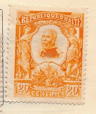 Haiti 1904 Early Issue Fine Mint Hinged 20c. 154291