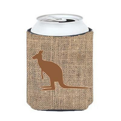 Carolines Treasures Kangaroo Burlap And Brown Can Or Bottle Hugger