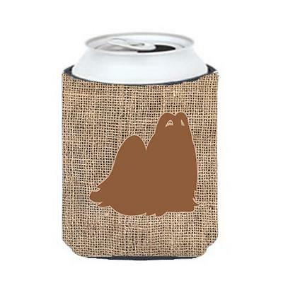 Carolines Treasures Maltese Burlap And Brown Can Or Bottle Hugger
