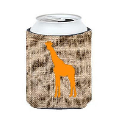 Carolines Treasures Giraffe Burlap and Orange Can or Bottle Hugger