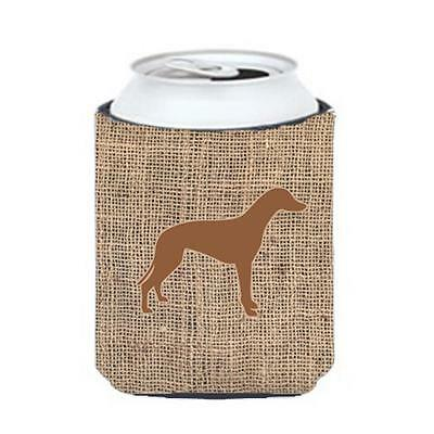 Carolines Treasures Greyhound Burlap And Brown Can Or Bottle Hugger