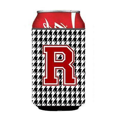 Carolines Treasures Monogram Houndstooth Can or Bottle Hugger Initial R