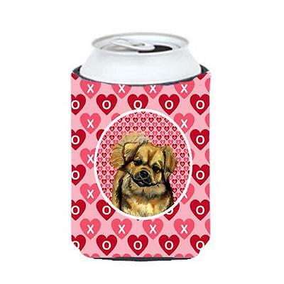 Tibetan Spaniel Valentines Love and Hearts Can or bottle sleeve Hugger