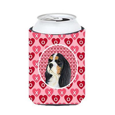 Cavalier Spaniel Valentines Love And Hearts Can Or Bottle Hugger 12 oz.